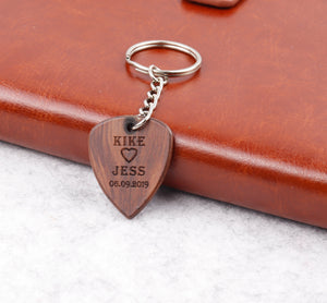 Customized Wood Pick Keychain