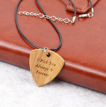 Customized Wood Pick Necklace
