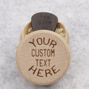 Beautiful Customized Round Box Wood and Pick
