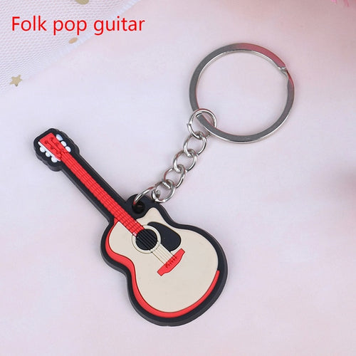 Folk Pop Guitar Keychain