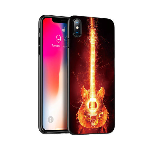 Guitar Flame Silicone Case for iPhone