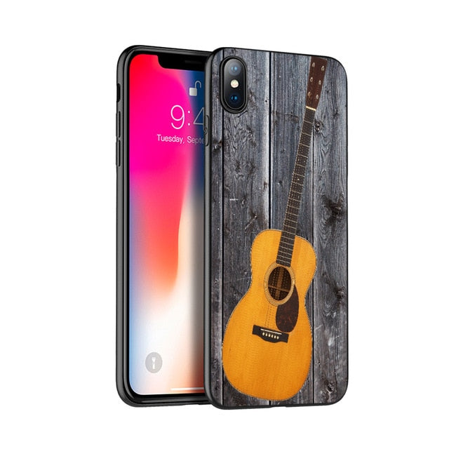 Silicone Cover Guitar Case for iPhone