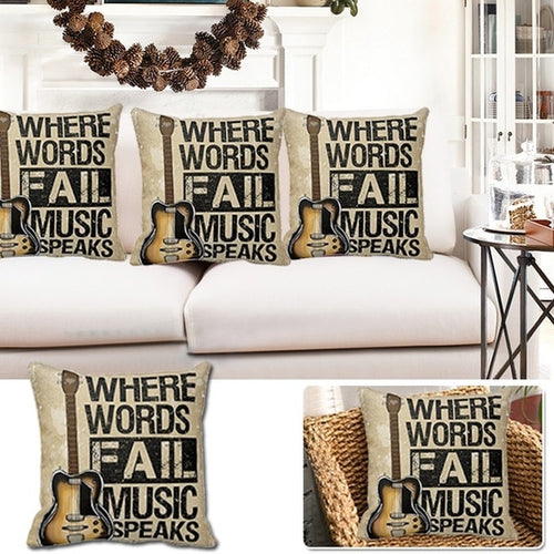 Music Speaks Cotton Pillow Cover