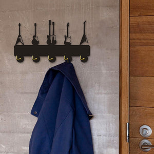 Guitars Wooden Wall Hook Bag Clothes Hanger