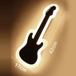 Guitar Shape Modern Wall Light LED Lamp