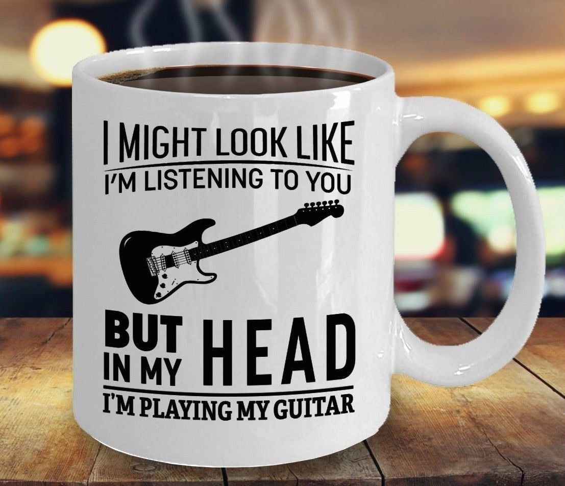 I'm Playing My Guitar Coffee Mug