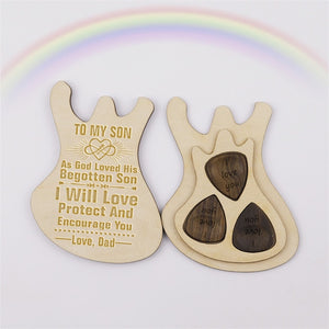 God Loved His Begotten Son Guitar Box With Pick