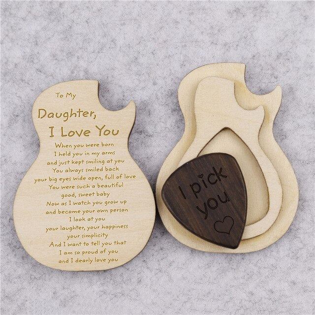 To My Daughter, I Love You Guitar Box With Pick