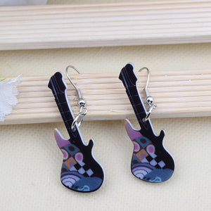 Guitar Cute Drop Earrings
