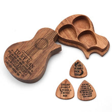 Limited Edition!To My Man Wooden Guitar Style Box + 3 Picks