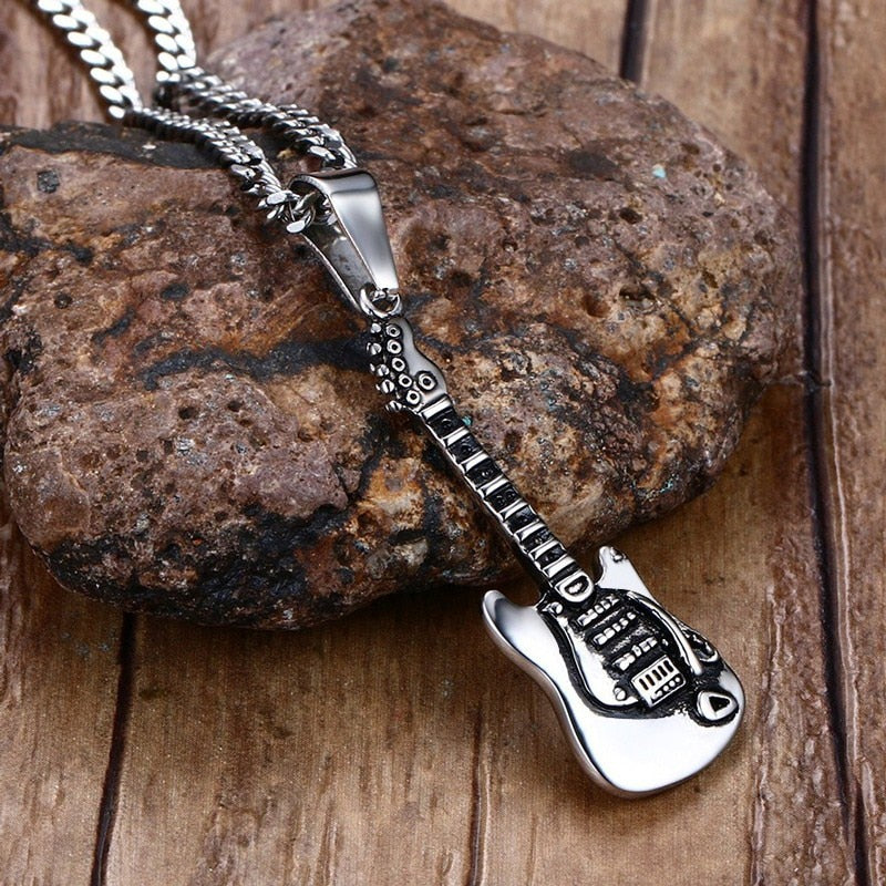 Necklace Metal Stainless Steel Electric Guitar