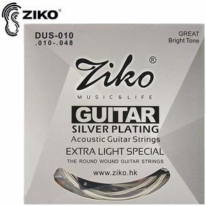 Acoustic guitar strings silver