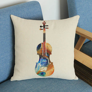 Musical Instruments Pillow Covers