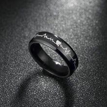 Music Note Titanium Steel Ring