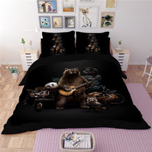 Lovely Guitar Panda Bedding Set