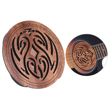 Guitar Sound Hole Cover Mahogany Wood for EQ Acoustic