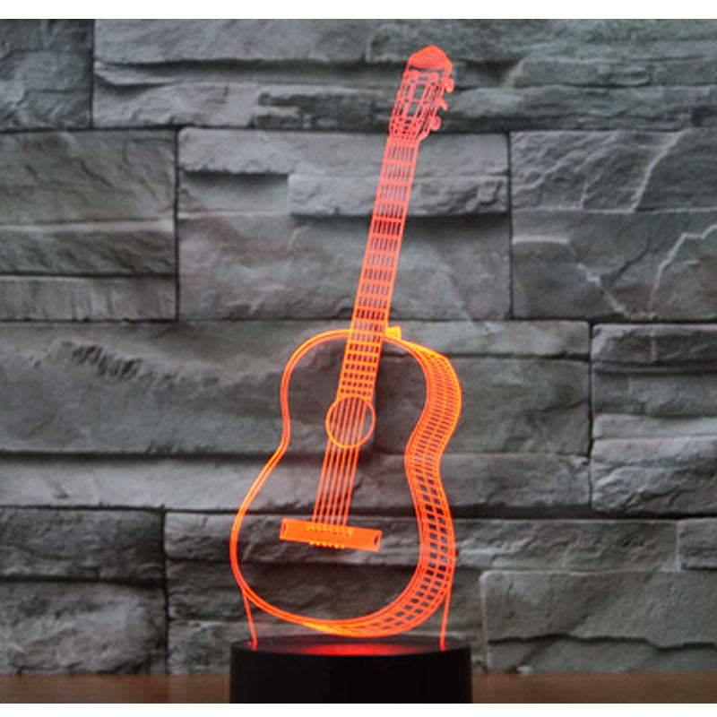 Guitar 3D LED Night Light with 7 Colors