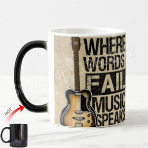 Cool Novelty Guitar Magic Mug