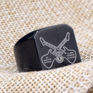 Black Guitar Rings For Men