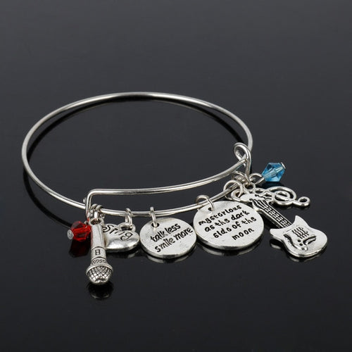Guitar Music Bangles Bracelets for Women