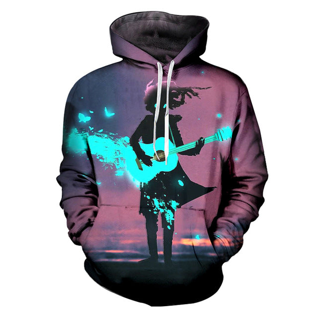 Playing Guitar Hoodie Sweatshirt