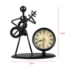 Guitar Bass Music Iron Man Decoration Electronic Clock