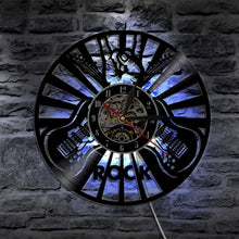 Guitar Rock Vinyl Record Wall Clock
