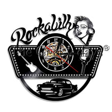 Rock Music Guitar Led Vinyl Wall Clock