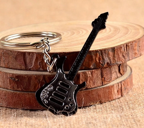 Metal Guitar Keychain