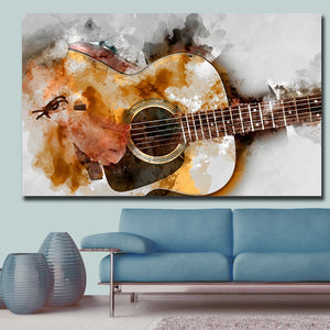 Guitar Art Canvas