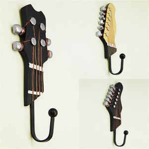 Guitar Heads Home Clothes Hat Wall Hanger