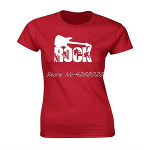 Rock Guitar Print T-shirt