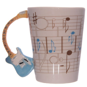 Music Guitar Ceramic Coffee Mug