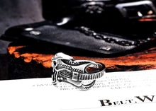 Stainless Steel  Guitar Skull Men's Ring
