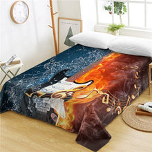 Fire And Water Music Guitar Bed Sheet