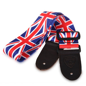 Electric Acoustic Bass Guitar UK Flag Strap Belt