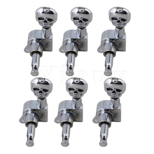 Skull 6R Tuning Pegs for Sealed Electric Guitar