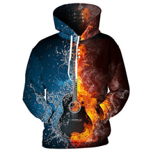 Fire and Ice Guitar Hoodie Sweatshirt