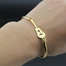 Gold Color Stainless Steel Guitar Bangles Bracelet