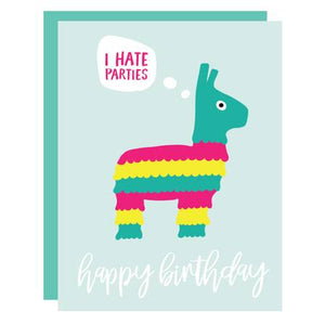 funny birthday card, pinata birthday card