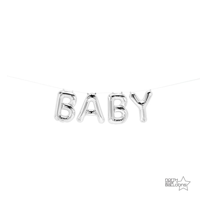 Baby balloon banner, baby shower decoration