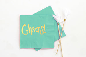birthday party napkins, cheers napkins