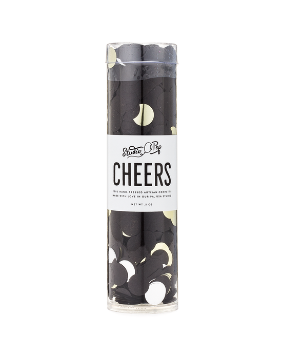 Cheers Confetti- Black, Gold, White, Silver