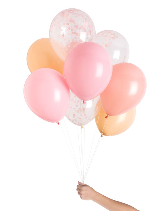 pink and white baby shower decorations, baby girl baby shower balloons