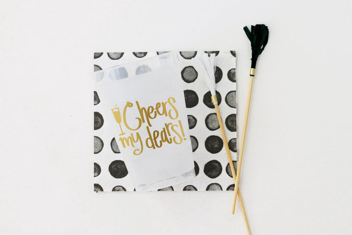 ladies night out, bachelorette party, 21st birthday party napkins