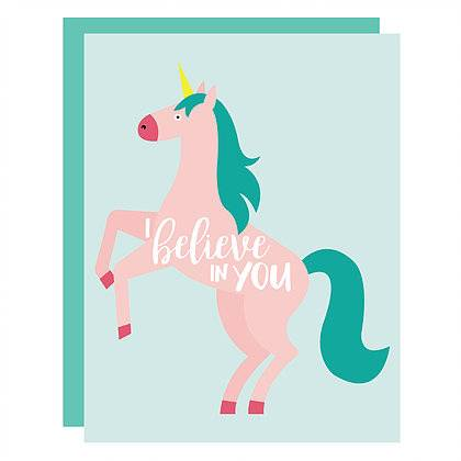 unicorn card, encouragement card, friendship