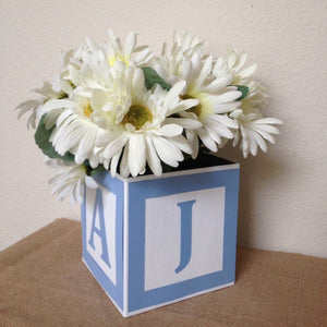 Alphabet Block Centerpiece, 6-inch block Single