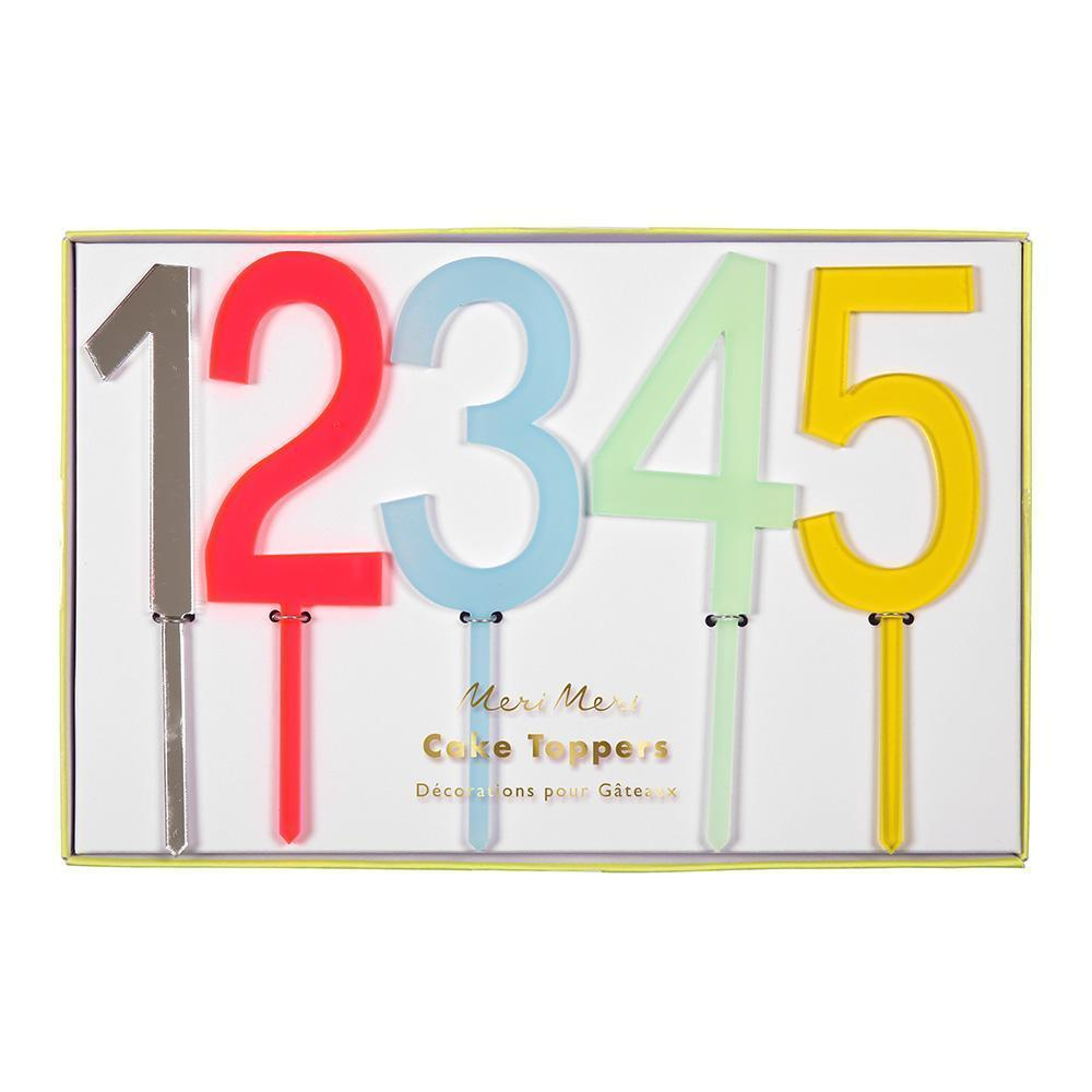 Multicolored Cake Topper Numbers