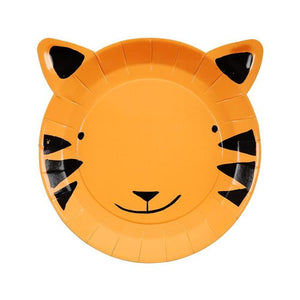 go wild, tiger plate, jungle birthday party, safari birthday party, animal party decorations