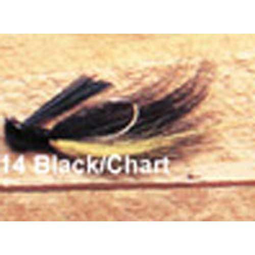 Arkie 1-8 Bucktail 6-cd Black-Chartreuse